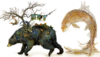 Psychedelic Animals in Surreal Landscapes – Sculptures by Ellen Jewett