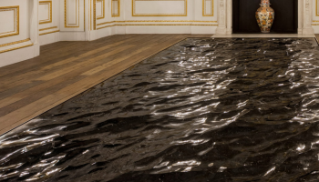 Carved Marble Tables Appear to Flow Like The Ocean