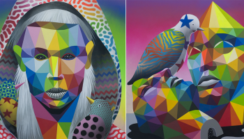 Prismatic Scenes from the Mythological Realm by Okuda San Miguel